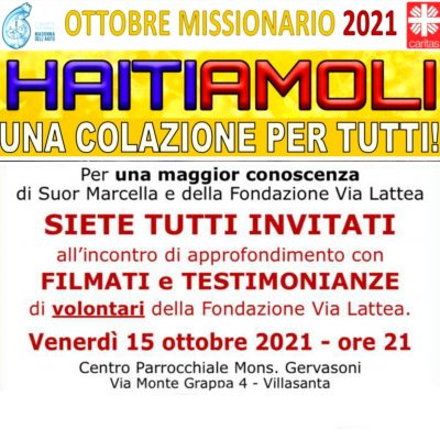 Ottobre Missionario 2021 – HAITIAMOLI